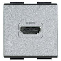 Розетка HDMI BTicino LIVING LIGHT, алюминий